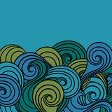 Sea background. Colorful  abstract pattern Stock Photo