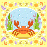 Sea background with crab Stock Photography