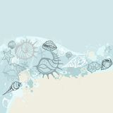 Sea background. Hand drawn  illustration Stock Photography