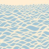 Sea background. Hand drawn  illustration Royalty Free Stock Images
