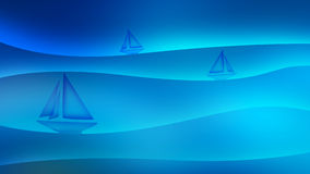 Sea background illustration with sailboats Royalty Free Stock Images