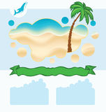 Sea background with palm Royalty Free Stock Image