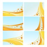 Sea backgrounds vector set Stock Images
