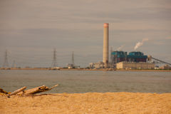 Sea backgroung factory. Sea backgroung petrochemical factory(thai Stock Images