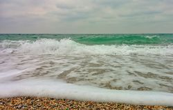 Sea in bad weather Stock Images