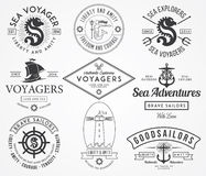 Sea Badges and labels Stock Images
