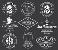 Sea Bages white. Vector sea badges for any use vector illustration