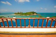 Sea balcony Stock Photos