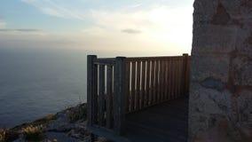 sea balcony royalty free stock photos