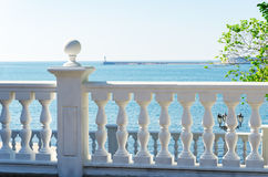 Sea from a balcony Royalty Free Stock Photography