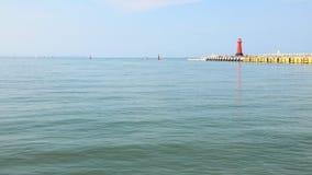 Sea baltic lighthouse in Gdansk, Poland. Outdoor Polish Danzig, Danzing Stock Photo