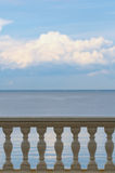 Sea balustrade Stock Image
