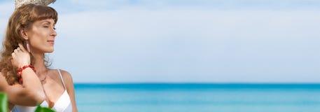 Sea banner Stock Image