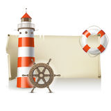 Sea banner Royalty Free Stock Photo