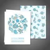 Sea banner. Vector illustration stock illustration