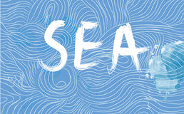 Sea banner with waves Royalty Free Stock Photo