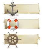 Sea banners. Retro-styled sea banners with place for text Stock Photo