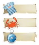 Sea banners Stock Photos