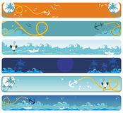 Sea banners Stock Photo