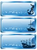 Blue banners Royalty Free Stock Photography