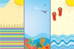 Sea banners cartoons Stock Photo