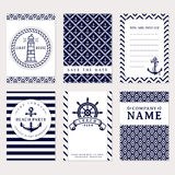 Sea banners. Vector card templates. Royalty Free Stock Photo