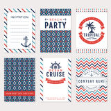 Sea banners. Vector card templates. Royalty Free Stock Images