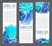 Sea banners Royalty Free Stock Photo