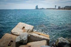 Sea in Barcelona Stock Photos