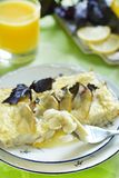 Sea bass baked with basil and lemon Stock Image
