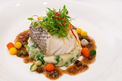 Sea Bass Fillet Steak Royalty Free Stock Photo