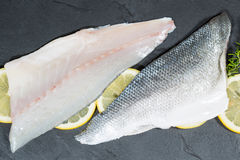 Sea Bass Fillets Royalty Free Stock Photography