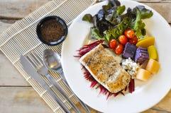 Sea bass Fish steak Stock Photos