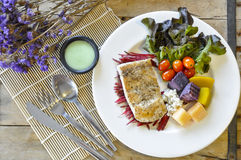 Sea bass Fish steak Royalty Free Stock Photo