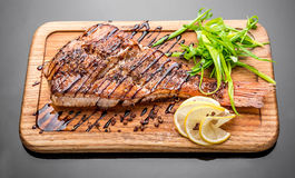 Sea bass grilled Stock Images