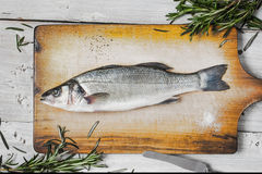 Sea bass with rosemary Stock Photo