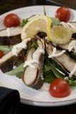 Sea bass salad royalty free stock photos