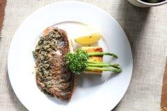 Sea bass steak Stock Photo