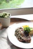 Sea bass steak Stock Image