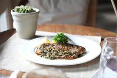 Sea bass steak Royalty Free Stock Photos