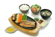 Sea Bass Steak Set Stock Photography