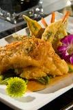 Sea bass with sweet chili sauce Stock Photo