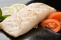 Sea bass with tomato Royalty Free Stock Image