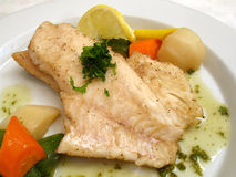 Sea Bass With Vegetables Royalty Free Stock Images