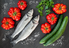 Sea Bass And Vegetables Royalty Free Stock Photo