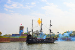 Sea Battle Royalty Free Stock Photography
