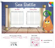 Sea Battle! Board game. Royalty Free Stock Photography