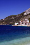 Sea bay. Beautiful scene at the sea and blue sky Royalty Free Stock Photography