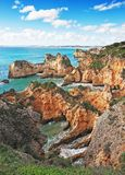 Sea bay on the coast in summer of Portugal. Stock Image