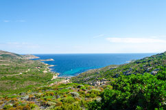 Sea bay. Bay in Corsica in summer Royalty Free Stock Image